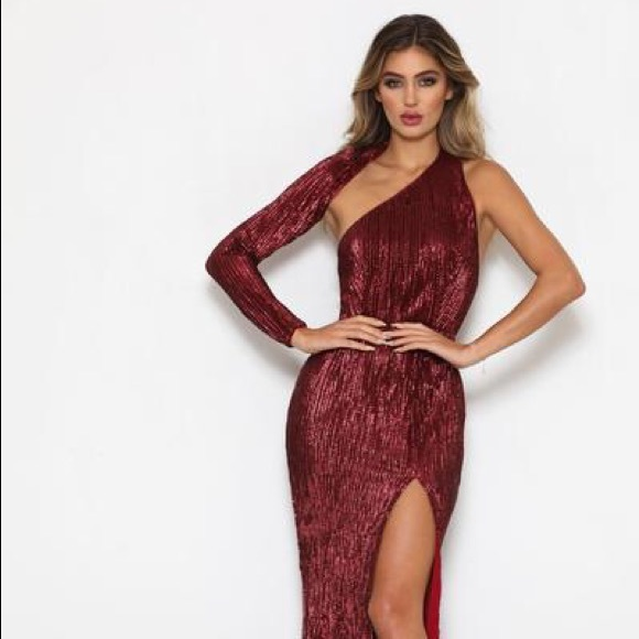 812cda0168f Abyss by Abby Tamara Sequin Gown